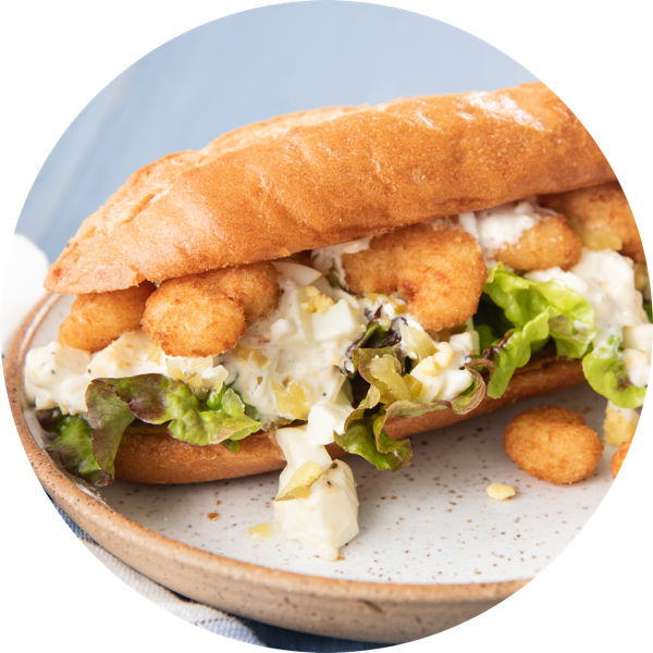 Popcorn Shrimp Salad Sandwich Seapak